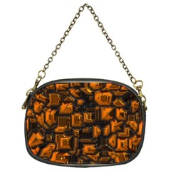 Metalart 23 Orange Chain Purses (one Side)  by MoreColorsinLife