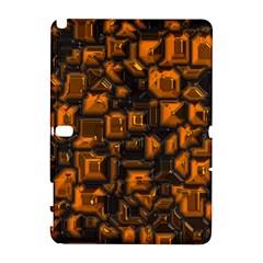 Metalart 23 Orange Samsung Galaxy Note 10 1 (p600) Hardshell Case by MoreColorsinLife
