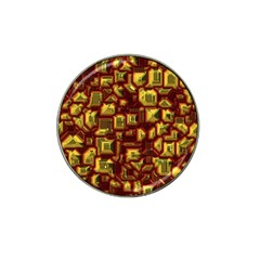 Metalart 23 Red Yellow Hat Clip Ball Marker (4 Pack) by MoreColorsinLife