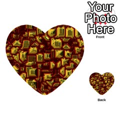 Metalart 23 Red Yellow Multi Purpose Cards (heart)  by MoreColorsinLife