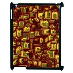 Metalart 23 Red Yellow Apple Ipad 2 Case (black) by MoreColorsinLife
