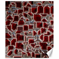 Metalart 23 Red Silver Canvas 20  X 24   by MoreColorsinLife