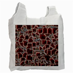 Metalart 23 Red Silver Recycle Bag (one Side) by MoreColorsinLife