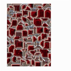 Metalart 23 Red Silver Large Garden Flag (two Sides)