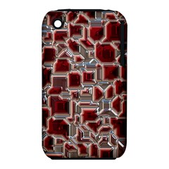 Metalart 23 Red Silver Apple Iphone 3g/3gs Hardshell Case (pc+silicone) by MoreColorsinLife