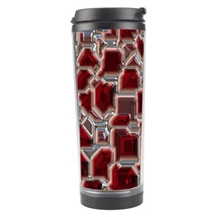 Metalart 23 Red Silver Travel Tumblers by MoreColorsinLife