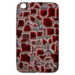 Metalart 23 Red Silver Samsung Galaxy Tab 3 (8 ) T3100 Hardshell Case  by MoreColorsinLife
