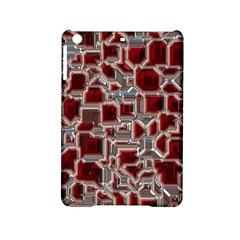 Metalart 23 Red Silver Ipad Mini 2 Hardshell Cases by MoreColorsinLife