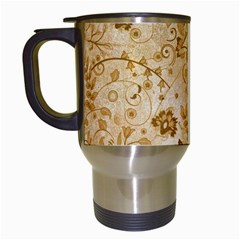 Flower Pattern In Soft  Colors Travel Mugs (white) by FantasyWorld7