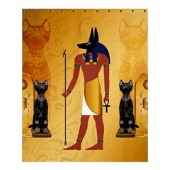 Anubis, Ancient Egyptian God Of The Dead Rituals  Shower Curtain 60  X 72  (medium)  by FantasyWorld7