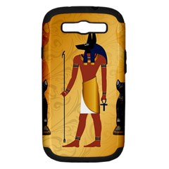 Anubis, Ancient Egyptian God Of The Dead Rituals  Samsung Galaxy S Iii Hardshell Case (pc+silicone) by FantasyWorld7