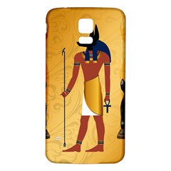 Anubis, Ancient Egyptian God Of The Dead Rituals  Samsung Galaxy S5 Back Case (white) by FantasyWorld7