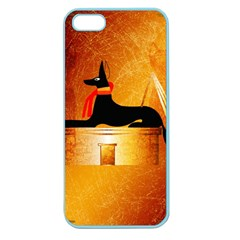 Anubis, Ancient Egyptian God Of The Dead Rituals  Apple Seamless Iphone 5 Case (color) by FantasyWorld7