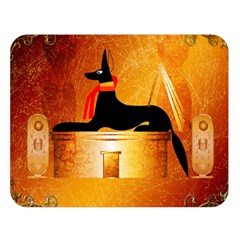 Anubis, Ancient Egyptian God Of The Dead Rituals  Double Sided Flano Blanket (Large)