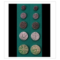 Celtic Coin Bag By Russell Khater   Drawstring Pouch (large)   Ev5fm3f3wfso   Www Artscow Com Back