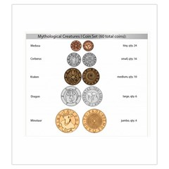 Mythology I Coin Bag By Russell Khater   Drawstring Pouch (large)   0ozaw6syafx4   Www Artscow Com Front