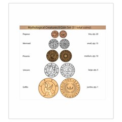 Mythology Ii Coin Bag By Russell Khater   Drawstring Pouch (large)   No6vukvdl6u1   Www Artscow Com Front