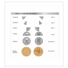 Pieces Of Eight Coin Bag By Russell Khater   Drawstring Pouch (large)   Apl6rad43m0h   Www Artscow Com Front
