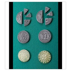 Pieces Of Eight Coin Bag By Russell Khater   Drawstring Pouch (large)   Apl6rad43m0h   Www Artscow Com Back