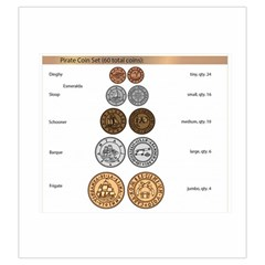 Pirate Coin Bag By Russell Khater   Drawstring Pouch (large)   2idasndg1pmz   Www Artscow Com Front