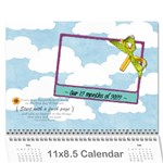 12 months holiday 2016 - Wall Calendar 11  x 8.5  (12-Months)