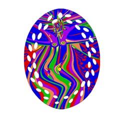 Transcendence Evolution Oval Filigree Ornament (2 Side)  by icarusismartdesigns