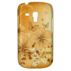 Wonderful Flowers With Butterflies Samsung Galaxy S3 Mini I8190 Hardshell Case by FantasyWorld7