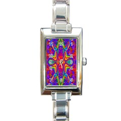 Abstract 1 Rectangle Italian Charm Watches by icarusismartdesigns