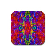Abstract 1 Rubber Square Coaster (4 Pack)  by icarusismartdesigns