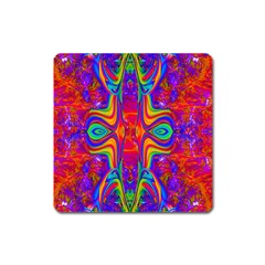 Abstract 1 Square Magnet by icarusismartdesigns