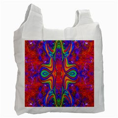 Abstract 1 Recycle Bag (One Side) by icarusismartdesigns