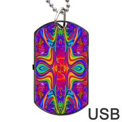 Abstract 1 Dog Tag Usb Flash (one Side) by icarusismartdesigns