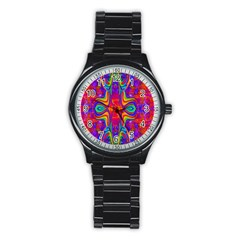 Abstract 1 Stainless Steel Round Watches by icarusismartdesigns