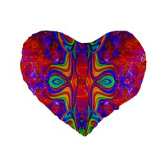 Abstract 1 Standard 16  Premium Flano Heart Shape Cushions by icarusismartdesigns