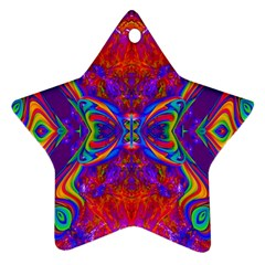 Butterfly Abstract Star Ornament (two Sides) by icarusismartdesigns