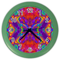 Butterfly Abstract Color Wall Clock by icarusismartdesigns
