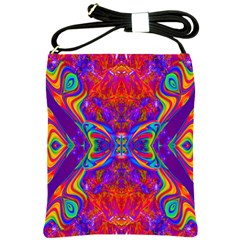 Butterfly Abstract Shoulder Sling Bag by icarusismartdesigns