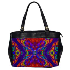 Butterfly Abstract Oversize Office Handbag by icarusismartdesigns