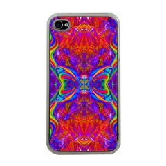 Butterfly Abstract Apple Iphone 4 Case (clear) by icarusismartdesigns