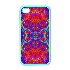 Butterfly Abstract Apple Iphone 4 Case (color) by icarusismartdesigns