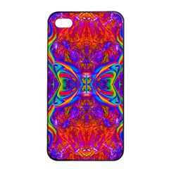 Butterfly Abstract Apple Iphone 4/4s Seamless Case (black) by icarusismartdesigns