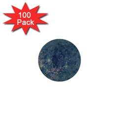 Vintage Floral In Blue Colors 1  Mini Buttons (100 Pack)  by FantasyWorld7