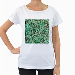 Beautiful Floral Pattern In Green Women s Loose Fit T Shirt (white) by FantasyWorld7