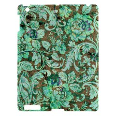 Beautiful Floral Pattern In Green Apple Ipad 3/4 Hardshell Case by FantasyWorld7