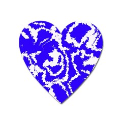 Migraine Blue Heart Magnet by MoreColorsinLife
