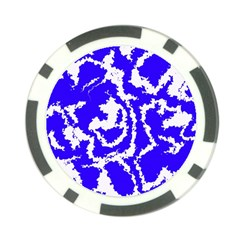 Migraine Blue Poker Chip Card Guards by MoreColorsinLife