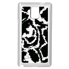 Migraine Bw Samsung Galaxy Note 4 Case (White) by MoreColorsinLife