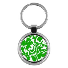 Migraine Green Key Chains (Round)  by MoreColorsinLife