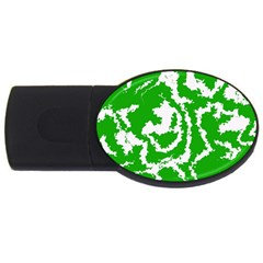Migraine Green USB Flash Drive Oval (4 GB)  by MoreColorsinLife