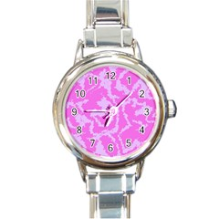 Migraine Pink Round Italian Charm Watches by MoreColorsinLife